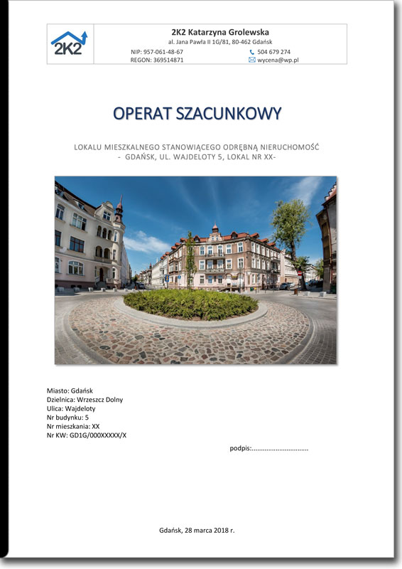 operat szacunkowy gdańsk